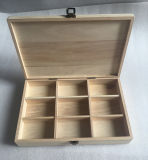 自然なPaulowniaの木製の茶ボックス