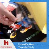 Vinyle imprimable ou papier de transfert thermique d'Eco-Dissolvant foncé pour le vêtement foncé, vêtements de sport, T-shirt de coton