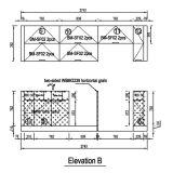 Oppein Amerika Projekt-Lack und hohe Glanz Belüftung-Küche-Schränke (OP14-PVC05)