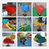 Prachtige Speelplaats voor Kinderen, de Ruiter van de Lente, het Paard van de Lente