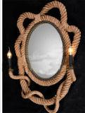 زخرفيّة مميّزة جدار ضوء مع حبل & مرآة