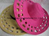 Sombrero grande de la trenza de papel de Floopy del estilo de la playa del borde