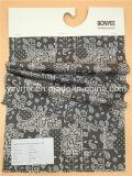 Modelo blanco impreso tela cruzada negra Finished 100% del algodón de la tela