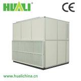 Assoalho de refrigeração água que está o condicionador de ar central do armário