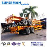 Doubles d'essieu de conteneur de camion remorque semi de bâti de cargaison/squelettique