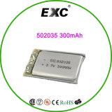 502035 bateria 502035 do polímero do lítio da bateria 3.7V 380mAh do polímero de Li