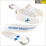 Firmenzeichen-Entwurfs-Tierpony-Pferd, das messendes Band wiegt