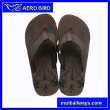 Deslizador negro puro de la sandalia de EVA Outsole de los hombres al aire libre (15K012)
