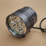 7000lm Xml-T6 Waterproof Grade IP65 12000mAh Bateria operada CREE 5 LED Bike Light