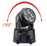 Mini 6in1 Wash Rgbawuv Moving Head for Wedding Party