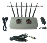 Forte cellulare Signal Jammer di Power Signal Jammer GSM 3G GPS WiFi Signal Jammer 2 Cool Fans 6 Bands Desktop