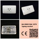 Interruptor de la pared de los E.E.U.U. del ABS suramericano de la cuadrilla/de la manera con el neón (118Z-05)