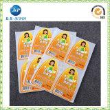 Het promotie Etiket van de Sticker van het Gezicht van het Beeldverhaal Gelukkige Zelfklevende (JP-S119)