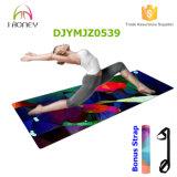 Estera impresa de la yoga, superficie de lujo de Microfiber, buen apretón, antirresbaladizo