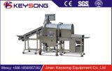 ドラムねり粉の機械によってパン粉でまぶされるエビ機械Gjj400-II