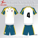 Healong Top Sale personnalisé Sublimation Quick Dry Soccer Jersey
