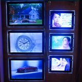 Cadre en cristal acrylique fait sur commande d'éclairage LED de la publicité extérieure du type 2017 neuf