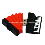 Lecteur flash USB de piano de PVC de mémoire Flash de disque d'U
