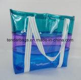명확한 색깔 PVC 바닷가 부대 재사용할 수 있는 명확한 쇼핑 백