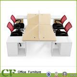 Escritório arcado da mobília da mesa do divisor da estação de trabalho