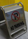 스테인리스 호화스러운 지면 서 있는 게시판 경고 교통 표지