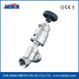 Valvole di gestione della sede di angolo della valvola di pistone per i liquidi neutri ed acidi e sopra/sotto di flusso del gas la sede