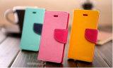水星の札入れのGoospery iPhone7のための豪華な日記の革箱、iPhone 7のための袋の札入れカバー