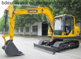 보정 기계장치 판매를 위한 새로운 노란 작은 8ton 크롤러 굴착기