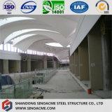 Tetto moderno della struttura d'acciaio per costruzione commerciale