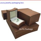 Rectángulo de empaquetado del regalo natural del papel hecho a mano para el regalo, joyería