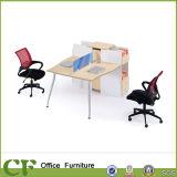 Poste de travail simple de partition de bureau de Tableau de personnel de X-Forme de type