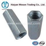 Noce lunga Hex dell'acciaio inossidabile/noce di accoppiamento (DIN6334)
