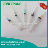 Entkeimte 3 Parts Disposable Syringe mit CER u. ISO