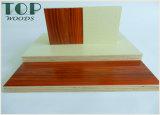 1220*2440 (4*8) 백색 3/3.6/4/5/6mm 또는 가구 훈장을%s WBP 접착제를 가진 빨강 또는 오렌지 또는 파랗거나 노란 멜라민 합판