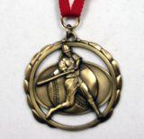 Médaille de plaqué or antique en 3D avec Multipal Découpe - Collier inclus / Vente en gros