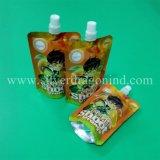 Sacchetto in piedi del sacchetto di generi con il becco per spremuta, vino, latte