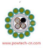 광섬유 합성 머리 위 접지선 (모형: OPGW24)