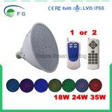 El color sin hilos del control que cambia la bombilla de la piscina del LED con el telecontrol del RF ajusta el lugar PAR56 E26/E27 (35 vatios, 12 voltios) del dispositivo ligero de Pentair y de Hayward
