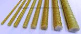 Rebar de Gfrp FRP de fibre de verre de résistance de la corrosion avec des biens