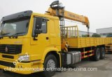 Sinotruk 10 tonnes de camion pliable télescopique du bras 6*4 a monté avec la grue