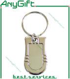 Liga Keychain do zinco com logotipo gravado laser personalizado