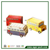 Коробка нот декоративной рукоятки деревянная с формой автомобиля