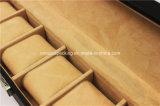 6 Schlitz-Fenster Luxux-PU-ledernes Geschenk-verpackenuhr-Kasten