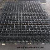 高炭素の鋼鉄正方形ワイヤー網のひだを付けられた金網