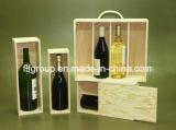 SGS revidierte Lieferanten-leistungsfähige natürliche Farben-hölzernen Wein-Kasten (Fjlw045)