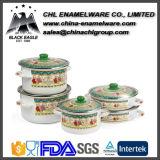 Hersteller FDA kundenspezifisches Firmenzeichen-keramisches Decklackcookware-Standardset