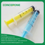 Colored riutilizzabile Syringe con il Tip Needle 5ml di Flat