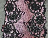 Lacet élastique de fleur de broderie de couleur multiple de qualité pour la décoration