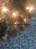 4FT LED 빛과 은 반짝임 끝 (가정 훈장)를 가진 화분에 심는 크리스마스 나무