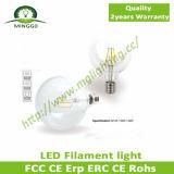 Luz de bulbo do diodo emissor de luz do filamento da lâmpada de filamento 4W do diodo emissor de luz G125 Dimmable